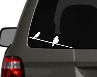 Birds on a Wire Vinyl Car Decal BAS-0115