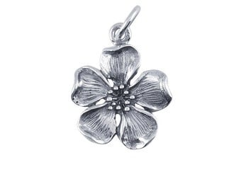 Sterling Silver Cherry Blossom Charm