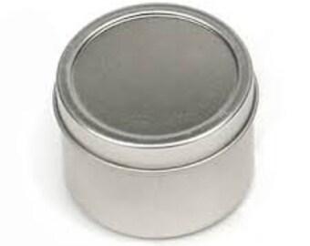 """Round Metal Tin 2"""" Round"""