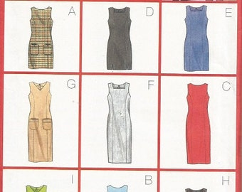 Butterick 5744  Nine Sew Fast and Easy Dress/Jumper Pattern SZ 8-12
