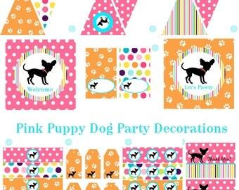 Dog Birthday Party, Dog Baby Shower, Dog Birthday Decorations, Dog Baby Shower Decorations, Dog Party Decorations, Puppy Pawty, BeeAndDaisy