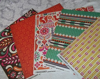 Grand Bazaar Collection 20 6x6 Sheets paper by Basic Grey