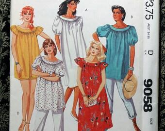 Size Maternity Small 8 10 Mccalls 9058 Tunic Mumu Dress Or