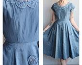 1950s Dress // Silk Pinwheel Dress // vintage 50s party dress