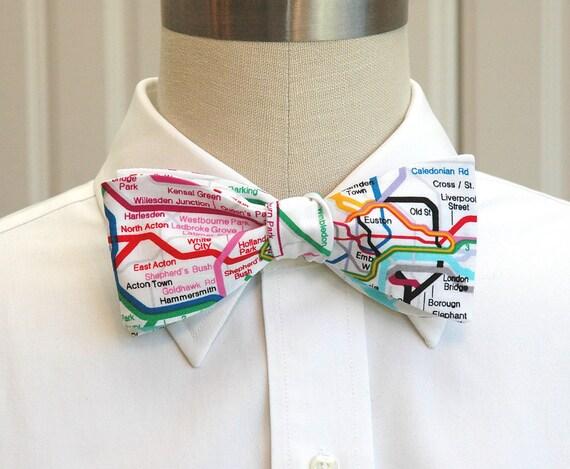 Men's Bow Tie in London Underground Map