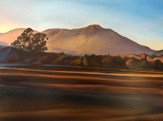 "Mount Tamalpais Glow (Giclee) 18""x24"""
