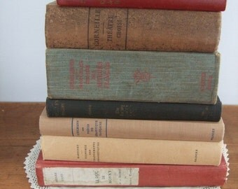 SALE! Vintage French Book Set of 7 - Instant Collection