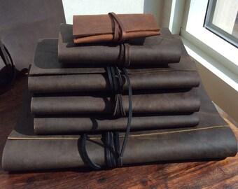 Atlantic Journal / Leather Notebook / Large Leather Journal / 8.5 x 11 / Sketchbook / Folio / Refillable / Leather Sketchbook / Portfolio