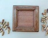 DIY Wine Cork Crafts - Bulletin Board or Large Trivet Kit - reclaimed wood frame - distressed wood grain