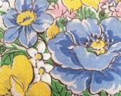 Scalloped Edge Floral Hankerchief
