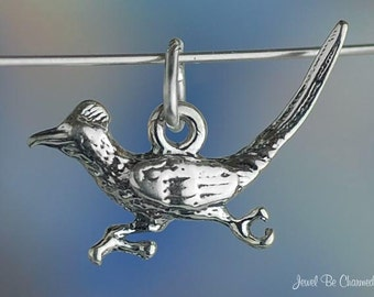 Sterling Silver Roadrunner Charm Bird Southwest New Mexico Solid .925