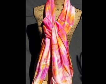Passion Silk (Oranges, Golds and Rasberry)