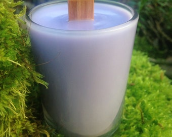 Lavender Wood Wick Votive Soy Candle