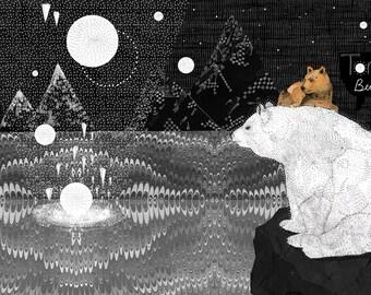 Tomorrow Bear // A5 print 5x8