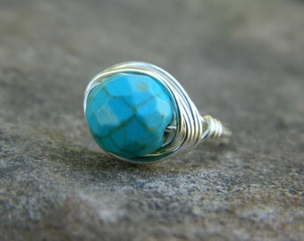Turquoise Ring. To Order - Blue, Aqua, Ocean, Sea, Brown, Bronce, Dark, Fall, Blue, Stone, Jewelry Rings, Turquoise Jewelry, Silver Rings