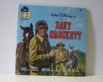 Book and Record: Davy Crockett, See the Pictures, Hear the Record, Read the Book with record