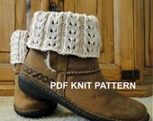 PDF PATTERN Knit Boot Cuff, Leg Warmers for Teens or Adults in  Eyelet Ivory Pattern