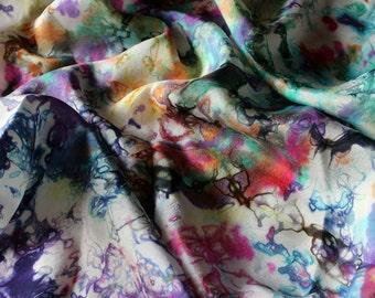 Unicorn Tears Multicolored Rainbow Playsilk  ~ Hand Dyed ~ Waldorf Inspired~ Scarf