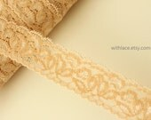 Moving Clearance---12 yds nude elastic/stretch lace for Headbands/Lingerie/Costume/Altered Couture---1''