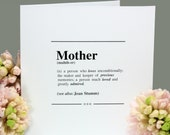 Personalised Mother Definition Card