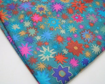 Kaffe Fassett Star Flower Fabric GP 88 Green, OOP, VHTF, Rare