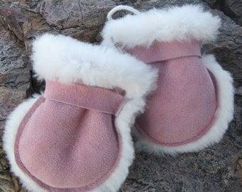 Kids Sheepskin Baby Mittens