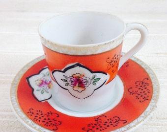 Vintage Occupied Japan Demitasse Cup and Saucer