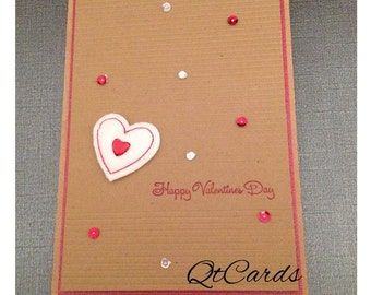 White Clean and Simple Valentine's Day Card