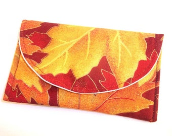 Autumn Leaves Business Card Holder
