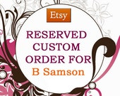 Reserved Custom Order For B Samson