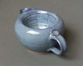 Scuttle Shaving Bowl Large Capacity with Lather Ridges in Cobalt Blue Big Daddy