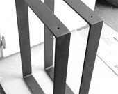 """Blacksmith Made ONE PAIR of 2"""" Wide Hand Forged Iron Modern Industrial Flat Bar Frame Chair Table Metal Steel Bracket Legs by VinTin"""