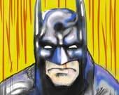 Holy Cow Batman - Batman - Original Digital Artwork Reproduction PRINT - Pop Art - Comic Illustration Style
