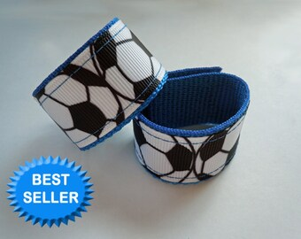 Soccer Sleeve Scrunchies Holders You Choose SPORTS RIBBON and Colors