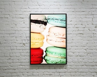 Macaron Photography, Food Photography, French Macarons, Colourful Macaron Photography, Still Life Food Photo, Laduree Macaron Photo
