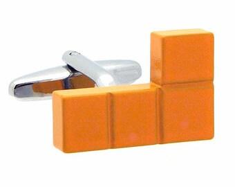 Yellow Block Cufflinks