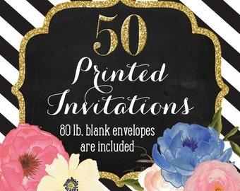Invitation Printing - Set of 50 - 5x7