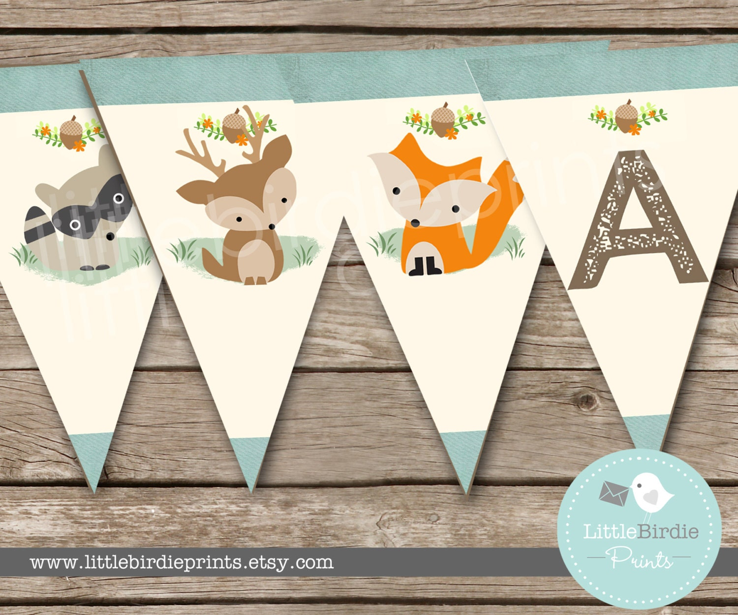 woodland baby shower decorations bunting woodland birthday