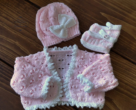 Knitting Pattern Baby Bolero Cardigan : Baby Knitting Pattern Girls Download PDF Pattern PDF