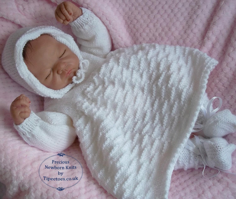 Knitting For Babies Uk : Baby knitting pattern download pdf dress