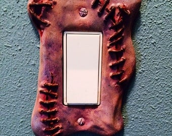 Sculpted Switchplate Zombiswitch Horror Halloween Zombie Gore Art Home Décor