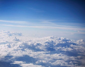 Above the Clouds III - 8x10 Fine Art Photograph, travel, sky, airplane view, nature photography