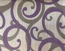 Purple Scrolls Fabric By Yard Purple Curtain Fabric Upholstery Fabric Curtain Panels Drapery Fabric Window Treatment Fabric