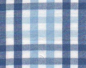 Royal and Light Blue Check by Fabric Finders
