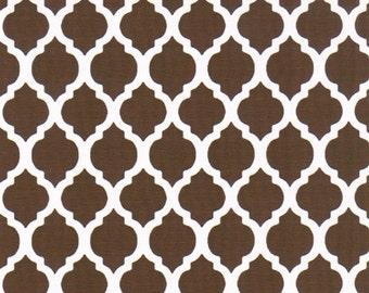 Fabric Finders Small Brown Quatrefoils
