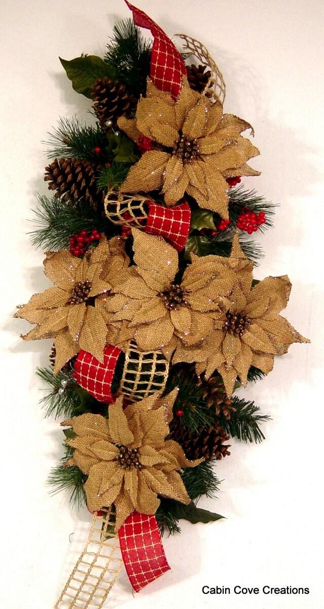 Christmas swag centerpiece floral arrangement holiday wreath