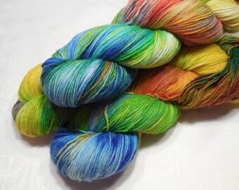 Merino nylon fingering weight sock yarn 98g (3.5oz) - Mad creation