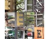 """E, F, G, H Letter Choices - 3 1/2 x 5"""" Color Letter Art Photograph"""