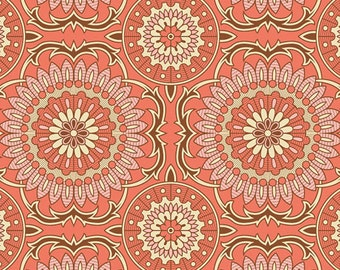 SALE One Yard Bungalow - Doily in Coral by Joel Dewberry