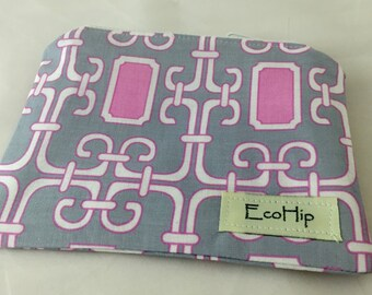 Small Zipper Pouch - Small Stand Alone Zipper Pouch -  Mod Basics Orchid